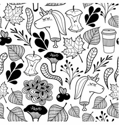 endless pattern in black and white with dead vector image