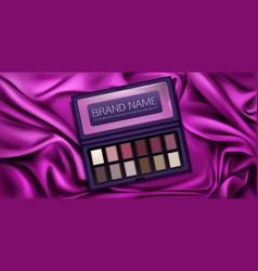 eye shadow palette set for make up eyeshadow kit vector image