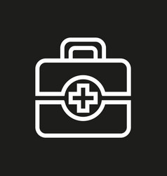 First aid icon on black background vector