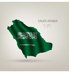 flag saudi arabia as country vector image