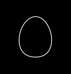 flat line egg icon vector image
