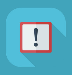 Flat modern design with shadow icons warning vector