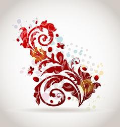 Floral ornamental colorful design elements vector