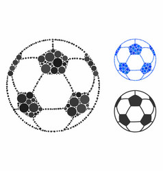 football ball mosaic icon spheric items vector image