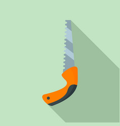 garden hand saw icon flat style vector image