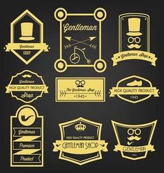 Gentleman Shop Vintage Label vector image