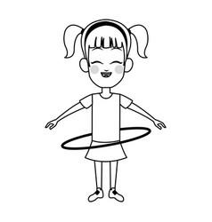 girl cartoon icon vector image