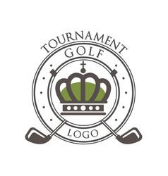 golf tournament logo elegant vintage label for vector image