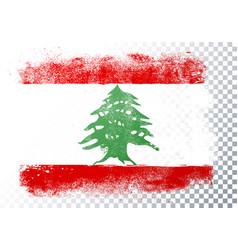 grunge flag lebanon vector image