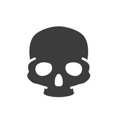 human skull colored icon bone structure the vector image