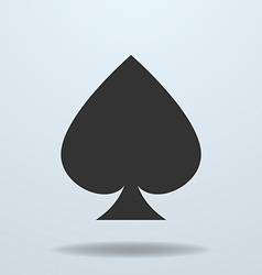 icon of Spades card suit vector image