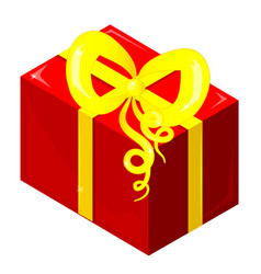 isothermal packing of a red gift with a yellow vector image
