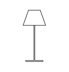 lamp stand icon vector image
