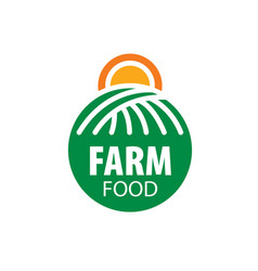 logo farm food vector image