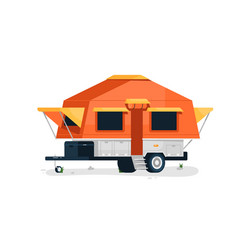 luxury camping trailer vector image