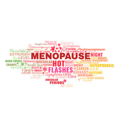 menopause symptoms tags cloud vector image