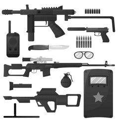 Military weapon army special forces arms vector