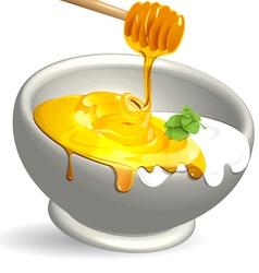 milk and honey vector image
