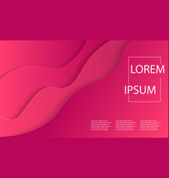 Modern art poster template with red paper vector