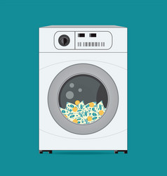 money dollars banknotes in washing machine vector image
