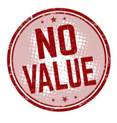 No value grunge rubber stamp vector