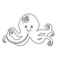 Octopus tentacles isolated icon vector