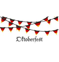 oktoberfest holiday beer background bavarian vector image