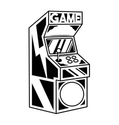 Old classic game machine for play retro video game vector