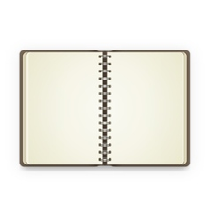 Open notebook with blank pages vector image