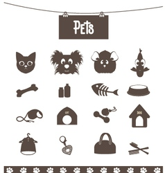 pets vector image