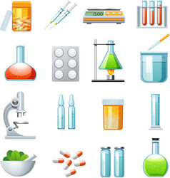 Pharmacology Flat Icons Collection vector