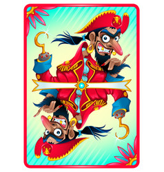 pirate card for gaming vector image