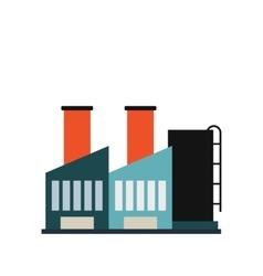 Plant industrial building icon vector