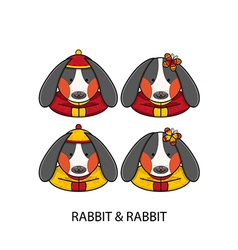 Rabbit Chinese vector