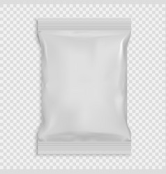 Realistic white blank template packaging foil wet vector