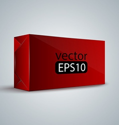 Red wrap box package vector