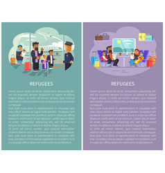 Refugee banners collection vector