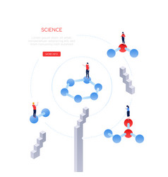 science and research - modern isometric web vector image