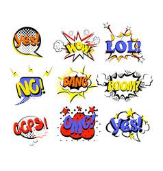 Set retro comic speech vector