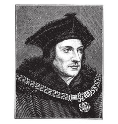 Sir thomas more vintage vector