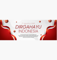 Social media banner indonesia independence day vector