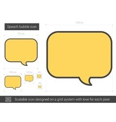 Speach bubble line icon vector