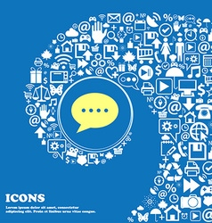 Speech bubbles icon Nice set of beautiful icons vector image