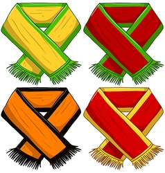 Sports Team Scarf Pack vector image