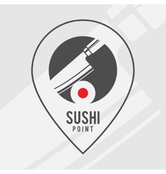 Sushi point - logo for the shop vector