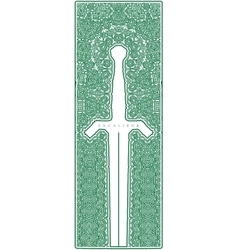 Symmetric vintage ornamental dagger vector