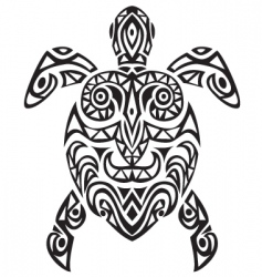 turtle tattoo vector image