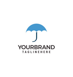 umbrella logo template design vector image