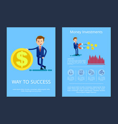 way to success and investment vector image