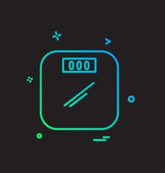 weight machine icon design vector image